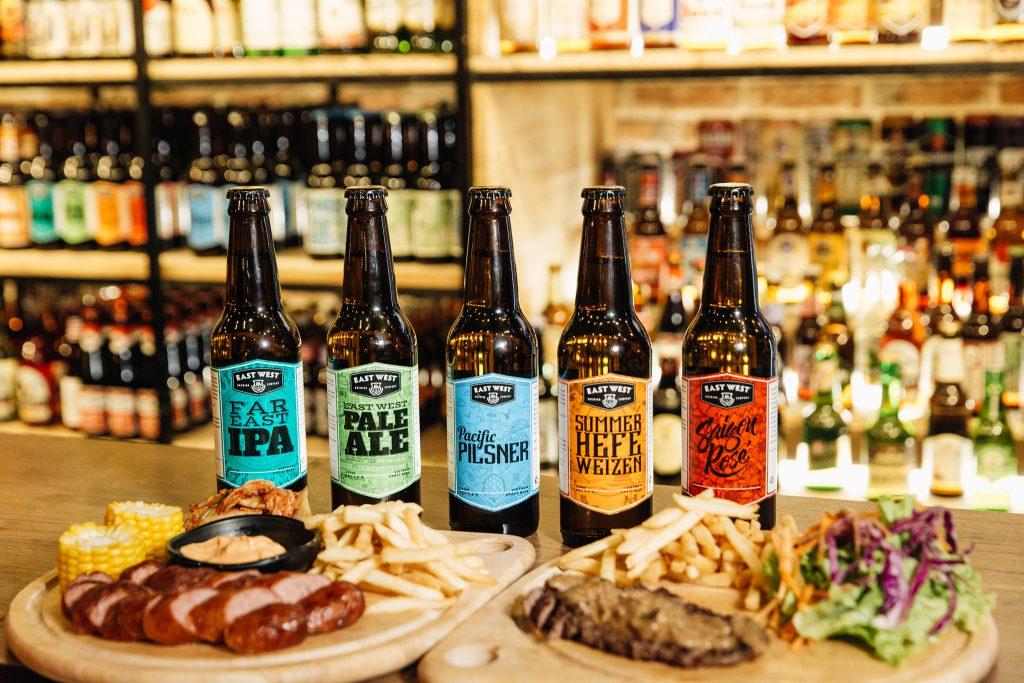 Các loại bia thủ công (craft beer) tại East West Brewing rất đa dạng