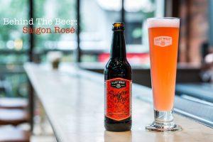 """Màu đỏ cam tuyệt đẹp của Saigon Rose được ly Pilsner """"trưng"""" ra trọn vẹn"""