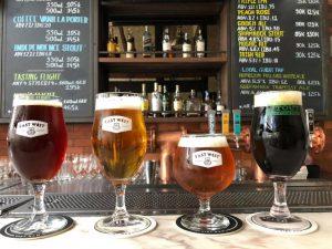 Từ trái qua phải: Irish Red, American Blonde Ale, Triple IPA, Shamrock Stout