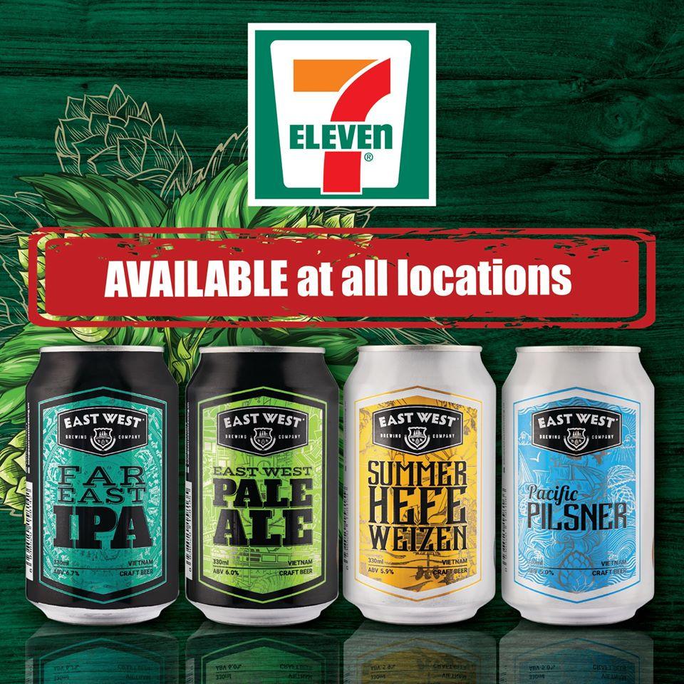 Các dòng bia có mặt tại 7 - Eleven