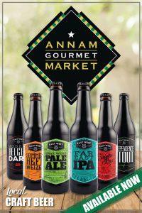 Sáu loại bia được bày bán tại Annam Gourmet