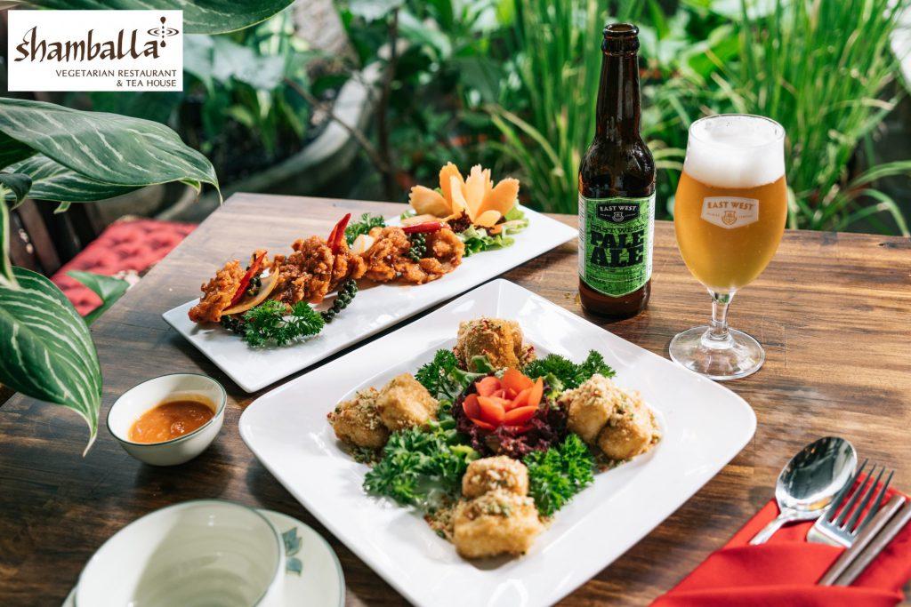 Bia East West Pale Ale kết hợp cùng menu thức ăn tại Shamballa