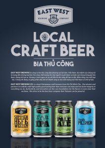Các loại bia craft lon tại East West Brewing