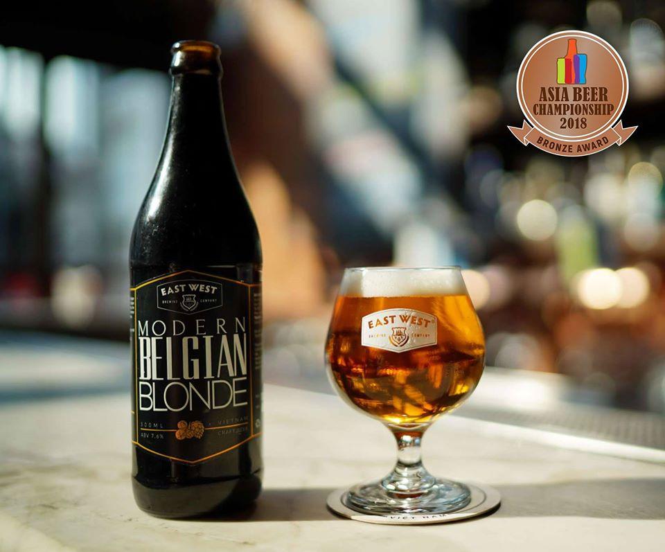 Bia Modern Belgian Blonde được đóng thùng rất chỉnh chu