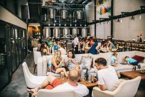 Mô hình nhà máy bia kết hợp showroom trong một địa điểm